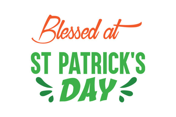 Print on Demand: Blessed at ST Patrick's Day Quote SVG Cut Graphic Crafts By TheLucky