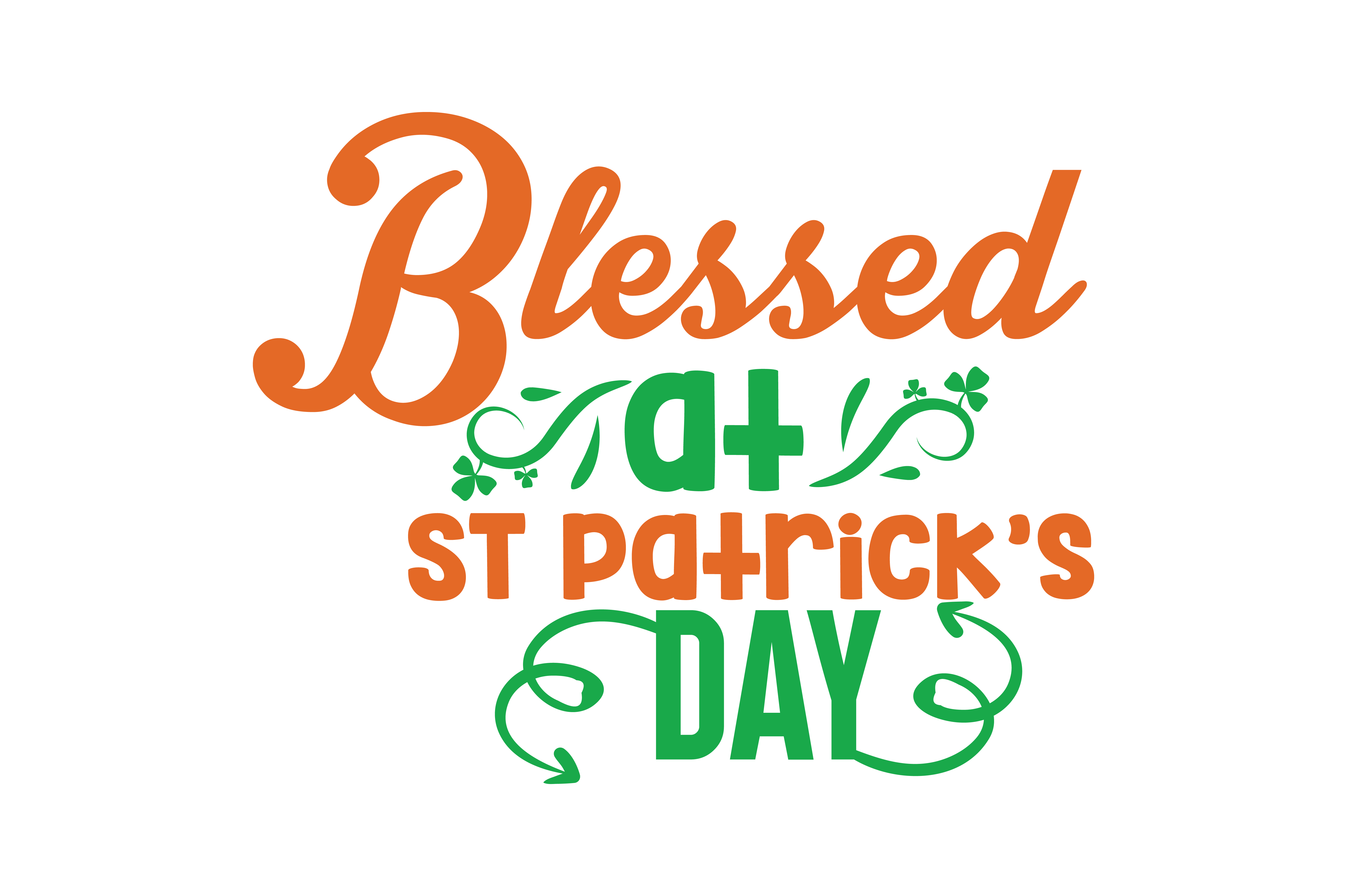 Download Free Blessed At St Patrick S Day Quote Svg Cut Graphic By Thelucky for Cricut Explore, Silhouette and other cutting machines.