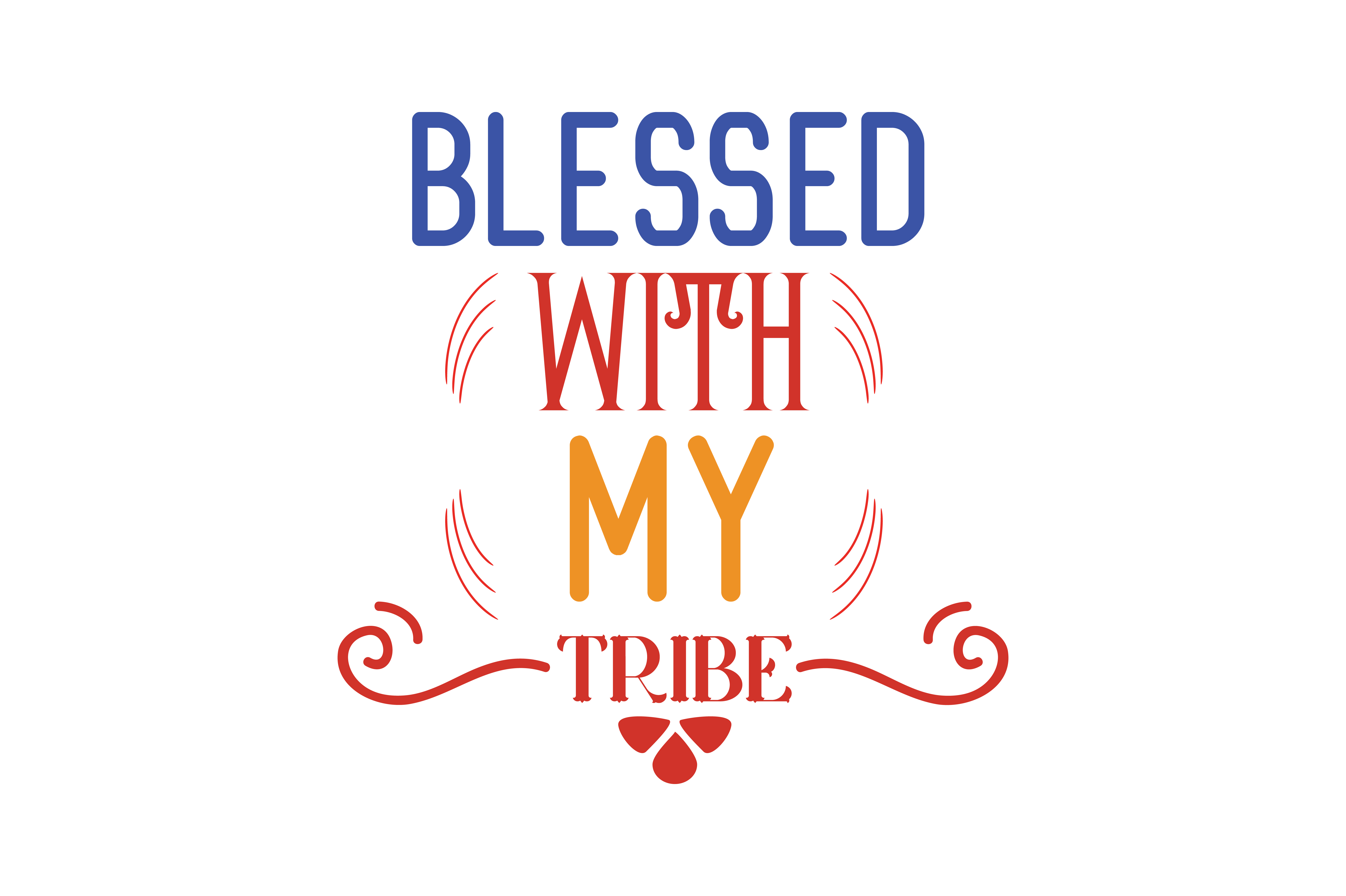 Download Free Blessed With My Tribe Quote Svg Cut Grafik Von Thelucky for Cricut Explore, Silhouette and other cutting machines.