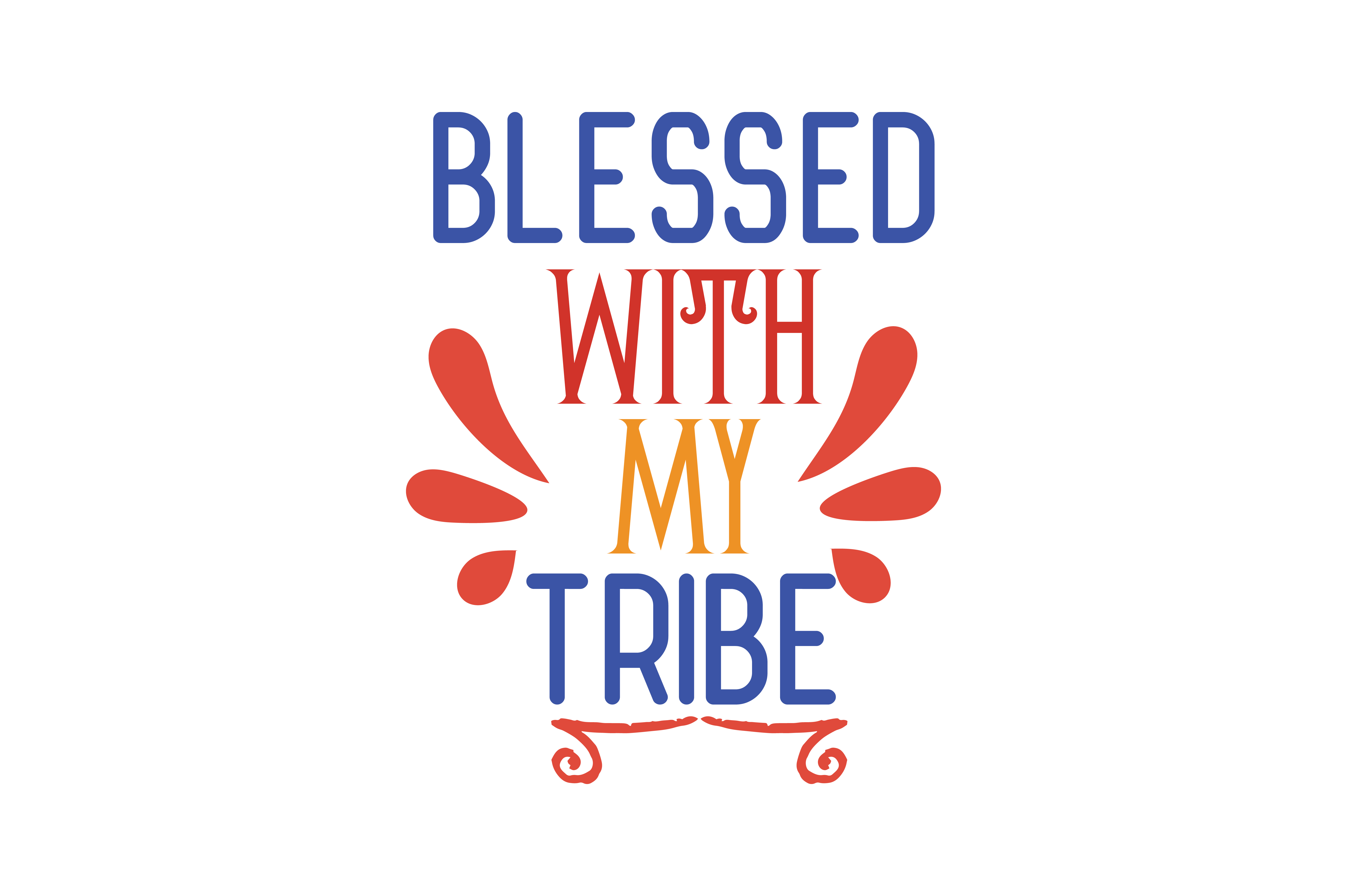 Download Free Blessed With My Tribe Svg Cut Quote Grafico Por Thelucky for Cricut Explore, Silhouette and other cutting machines.