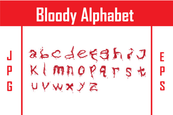 Download Free Bloody Alphabet Graphic By Rfg Creative Fabrica for Cricut Explore, Silhouette and other cutting machines.