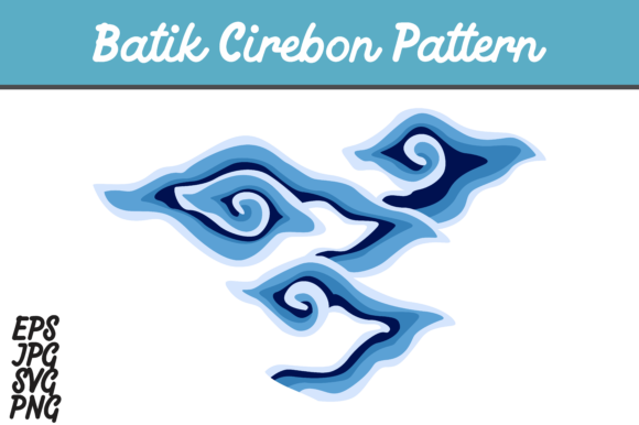 Download Free Blue Batik Cirebon Mega Mendung Indonesia Set Svg Vector Image SVG Cut Files