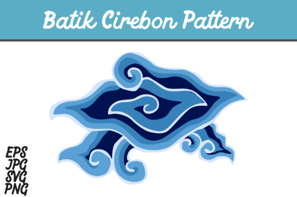 Download Free Blue Batik Cirebon Mega Mendung Indonesia Set Svg Vector Image for Cricut Explore, Silhouette and other cutting machines.