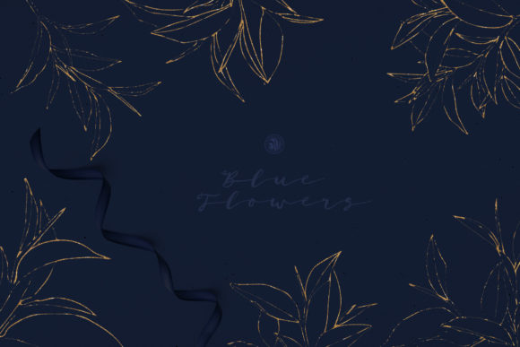 Blue Flowers Graphic By webvilla Image 2