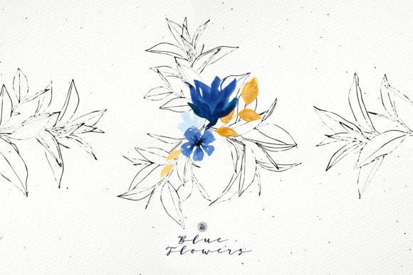 Blue Flowers Graphic By webvilla Image 3