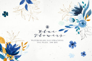 Blue Flowers Graphic By webvilla