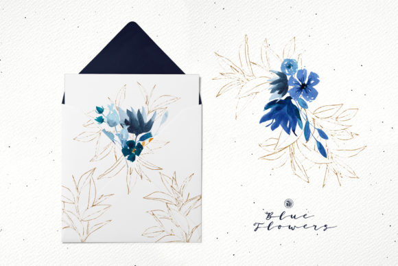Blue Flowers Graphic By webvilla Image 6