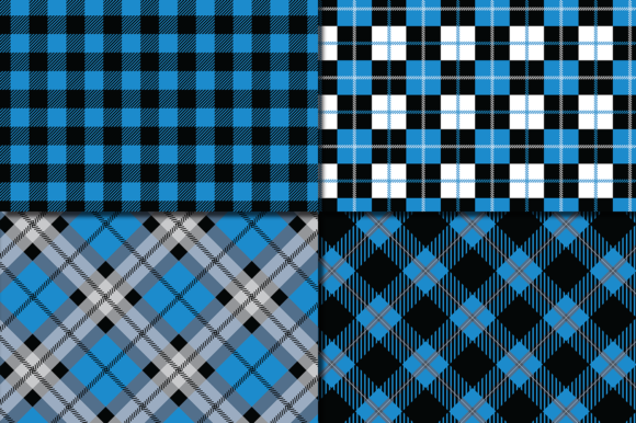 Download Free Blue And Black Plaid Pattern Graphic By Vr Digital Design for Cricut Explore, Silhouette and other cutting machines.