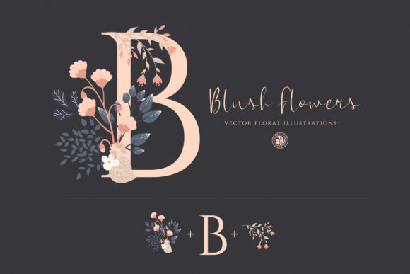 Print on Demand: Blush Flowers Graphic Illustrations By webvilla - Image 2