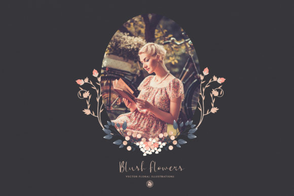 Print on Demand: Blush Flowers Graphic Illustrations By webvilla - Image 3