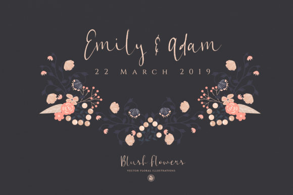 Print on Demand: Blush Flowers Graphic Illustrations By webvilla - Image 4