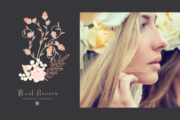 Print on Demand: Blush Flowers Graphic Illustrations By webvilla - Image 5