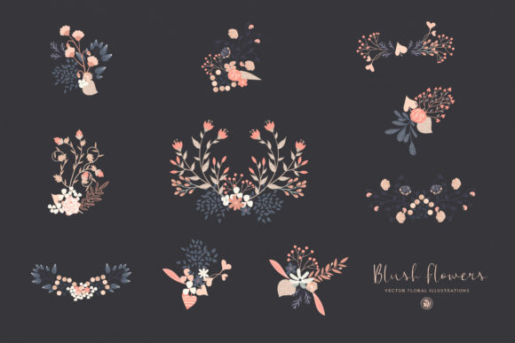 Print on Demand: Blush Flowers Graphic Illustrations By webvilla - Image 6