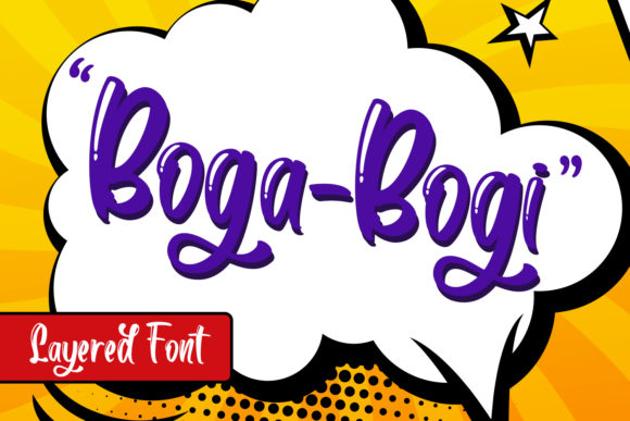 Print on Demand: Boga-Bogi Display Font By Din Studio