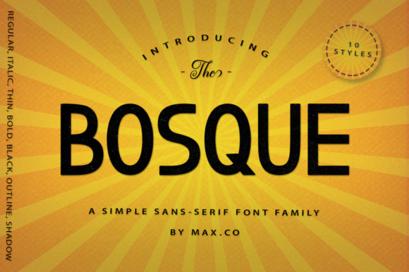Print on Demand: Bosque Family Sans Serif Font By Max.co
