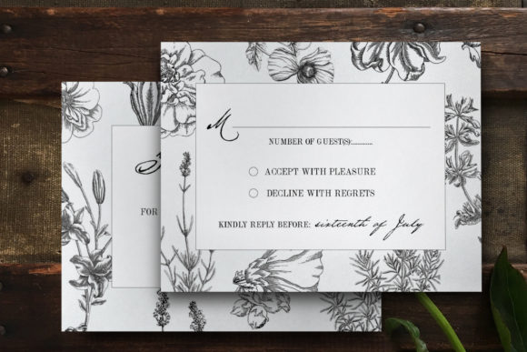 Botanical Wedding Invitation Suite Graphic Print Templates By Blue Robin Design Shop - Image 2