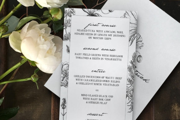 Download Free Botanical Wedding Invitation Suite Graphic By Blue Robin Design for Cricut Explore, Silhouette and other cutting machines.