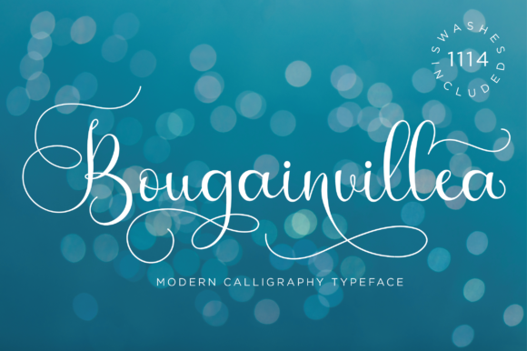 Print on Demand: Bougainvillea Script Script & Handwritten Font By fanastudio
