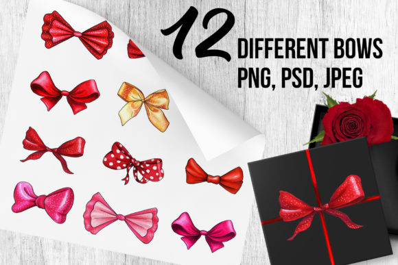 Bows and Ribbons Marker Clipart Graphic Illustrations By ilonitta.r - Image 2