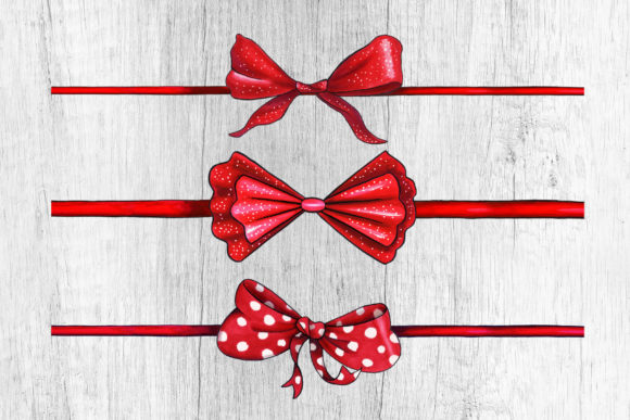 Bows and Ribbons Marker Clipart Graphic Illustrations By ilonitta.r - Image 3
