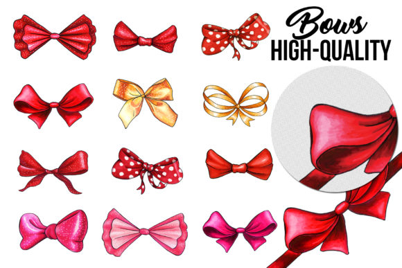 Bows and Ribbons Marker Clipart Graphic Illustrations By ilonitta.r - Image 5