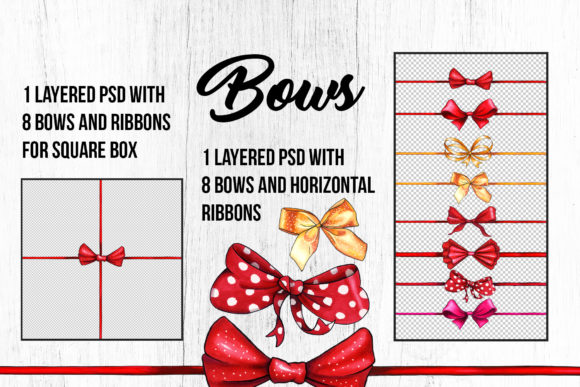 Bows and Ribbons Marker Clipart Graphic Illustrations By ilonitta.r - Image 8