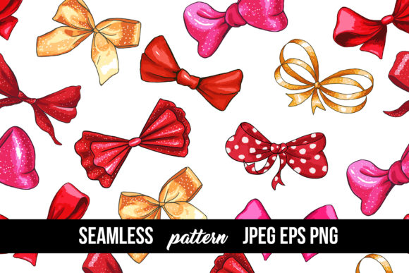 Bows and Ribbons Marker Clipart Graphic Illustrations By ilonitta.r - Image 9
