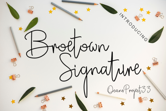 Print on Demand: Broetown Signature Script & Handwritten Font By OCS Studio - Image 1