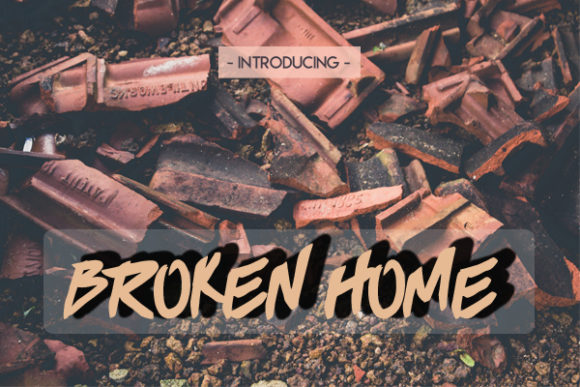 Broken Home Blackletter Font By Docallisme