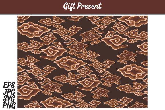 Download Free Brown Batik Cirebon Mega Mendung Indonesia Set Svg Vector Image for Cricut Explore, Silhouette and other cutting machines.