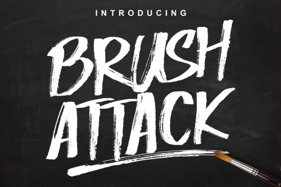 Print on Demand: Brush Attack Display Schriftarten von Lettersiro Co.