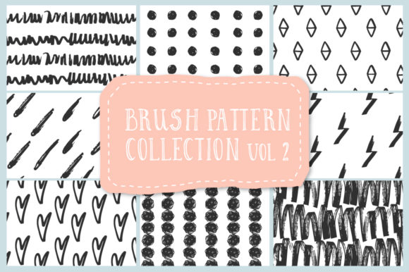 Brush Pattern Collection Graphic Illustrations By anatartan