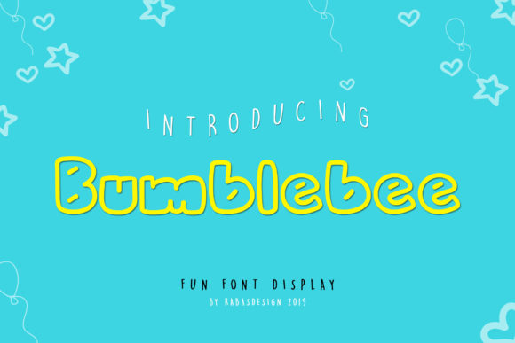 Print on Demand: Bumblebee Display Font By Rabas Design