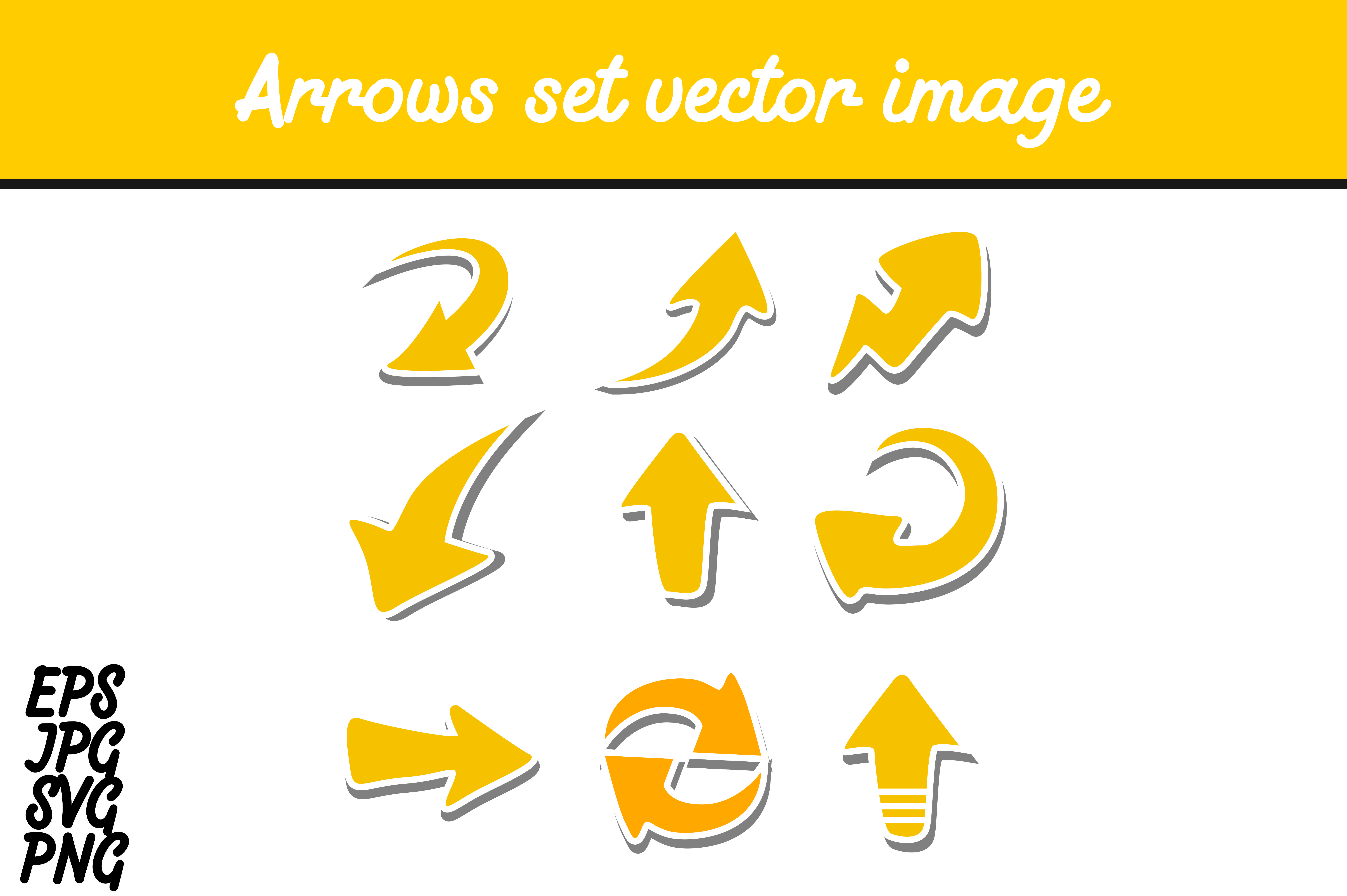Download Free Bundle Arrow Set Vector Image Graphic By Arief Sapta Adjie for Cricut Explore, Silhouette and other cutting machines.
