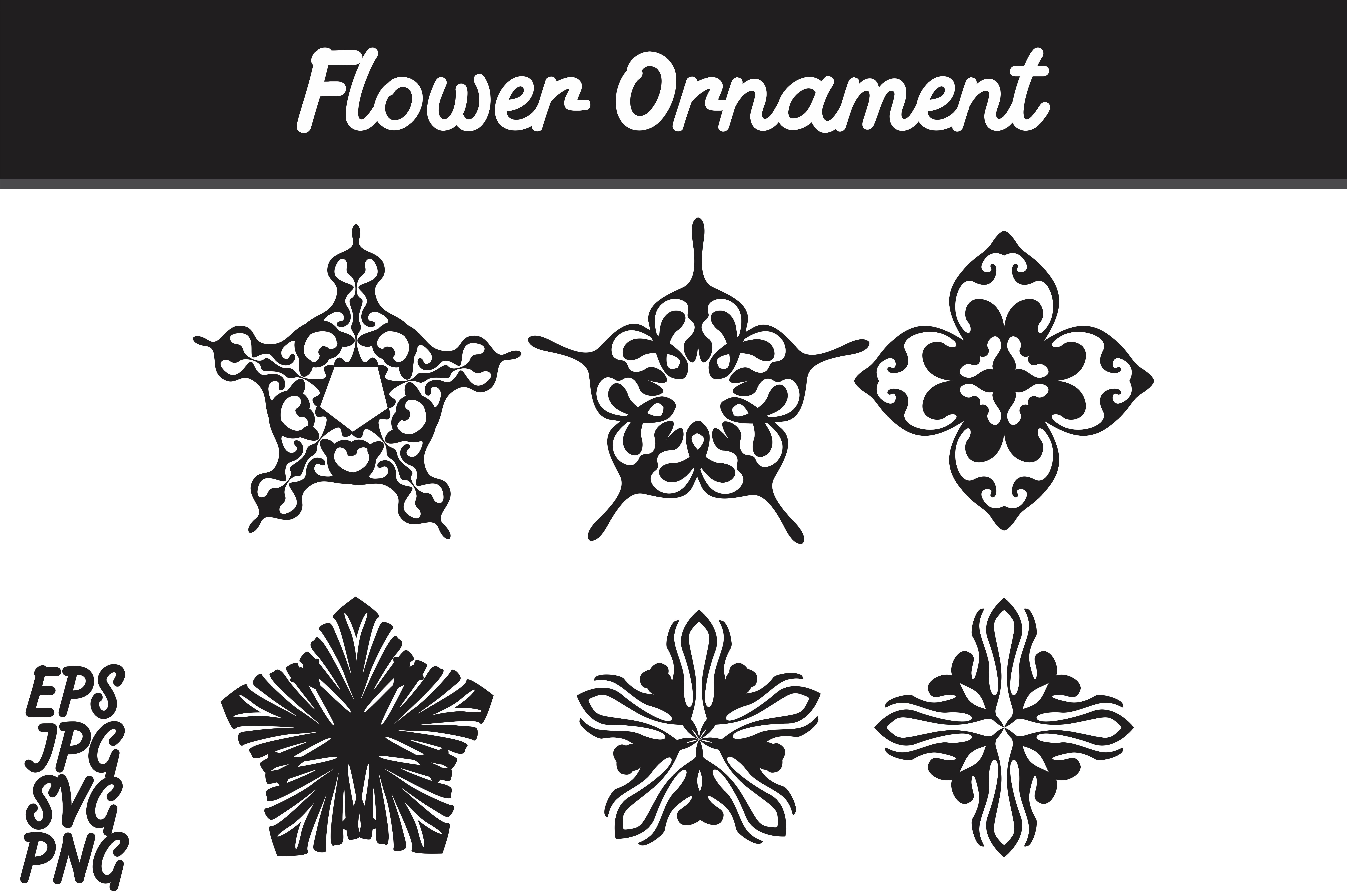 Download Free Bundle Flower Ornament Set Svg Vector Image Graphic By Arief for Cricut Explore, Silhouette and other cutting machines.
