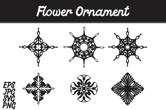 Print on Demand: Bundle Flower Ornament Set SVG Vector Image Gráfico Iconos Por Arief Sapta Adjie