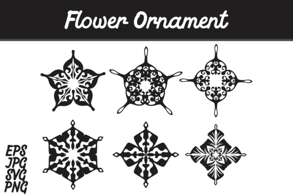 Print on Demand: Bundle Flower Ornament Set SVG Vector Image Graphic Icons By Arief Sapta Adjie