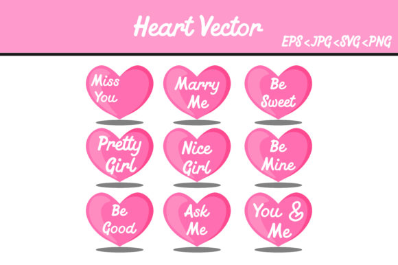Download Free Bundle Heart Vector Image Graphic By Arief Sapta Adjie for Cricut Explore, Silhouette and other cutting machines.