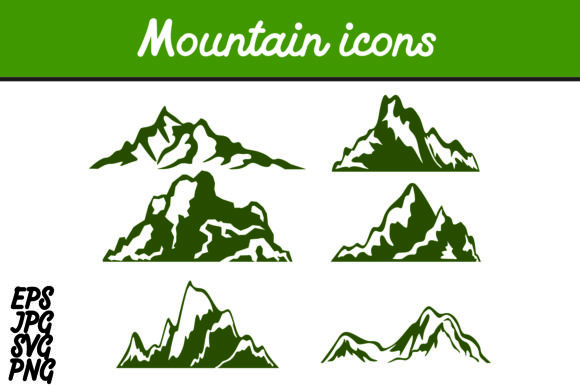 Download Free Bundle Mountain Icon Set Svg Vector Image Graphic By Arief Sapta for Cricut Explore, Silhouette and other cutting machines.