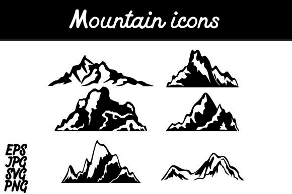 Download Free Bundle Mountain Icon Set Graphic By Arief Sapta Adjie Creative for Cricut Explore, Silhouette and other cutting machines.
