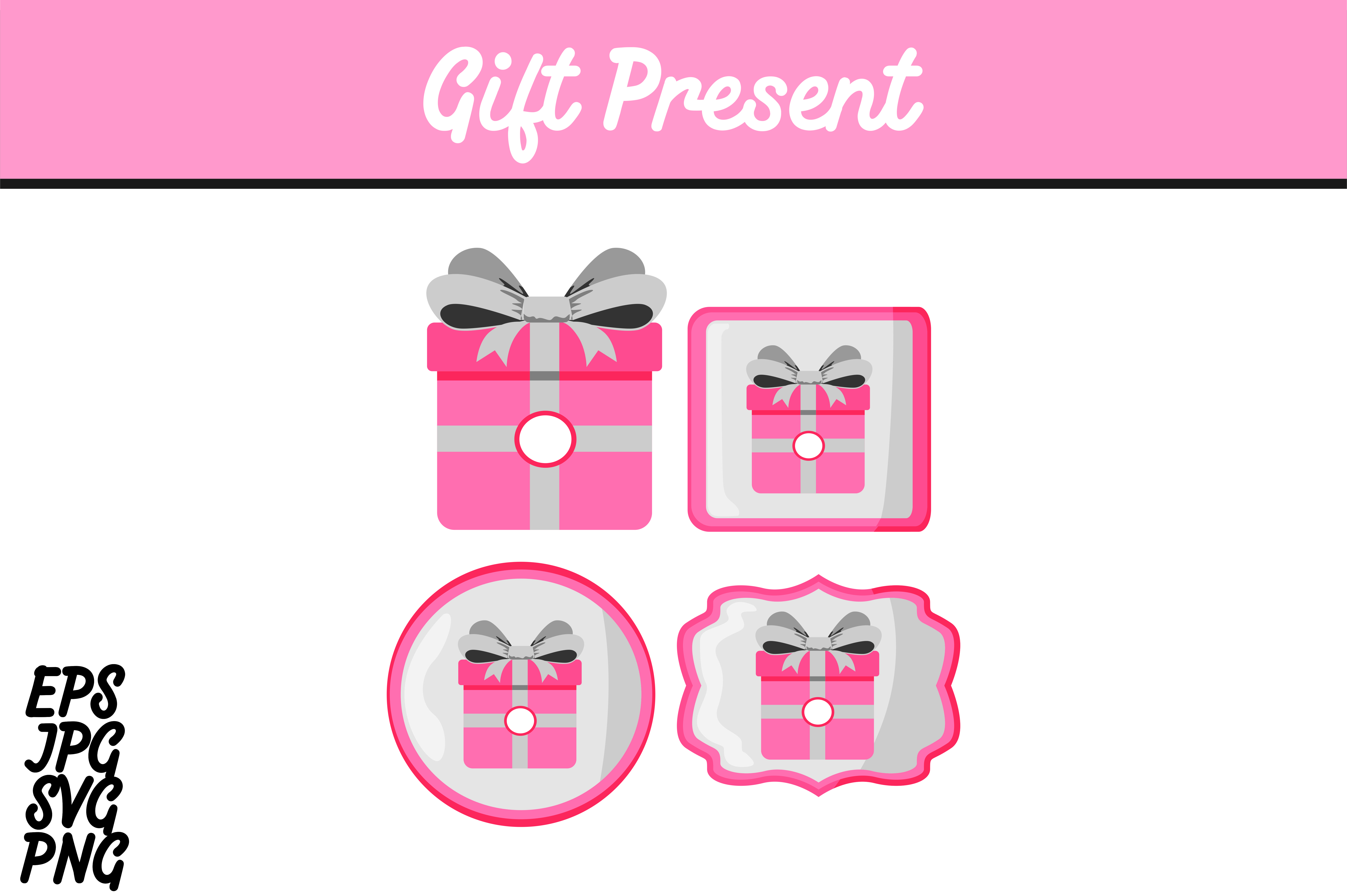 Download Free Bundle Pink Gift Present Set Svg Vector Image Graphic By Arief for Cricut Explore, Silhouette and other cutting machines.
