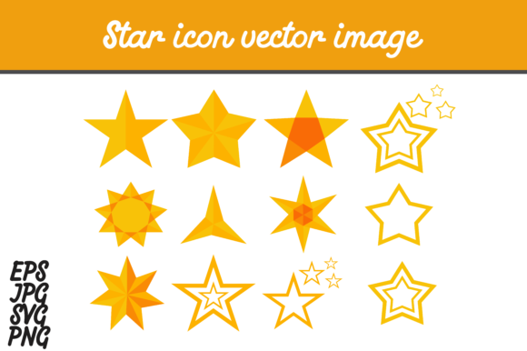 Print on Demand: Bundle Star Icon Set SVG Vector Image Graphic Icons By Arief Sapta Adjie - Image 2