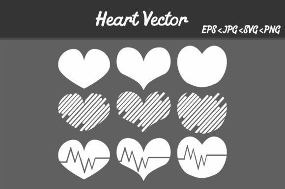 Print on Demand: Bundle Heart Vector Image Gráfico Iconos Por Arief Sapta Adjie
