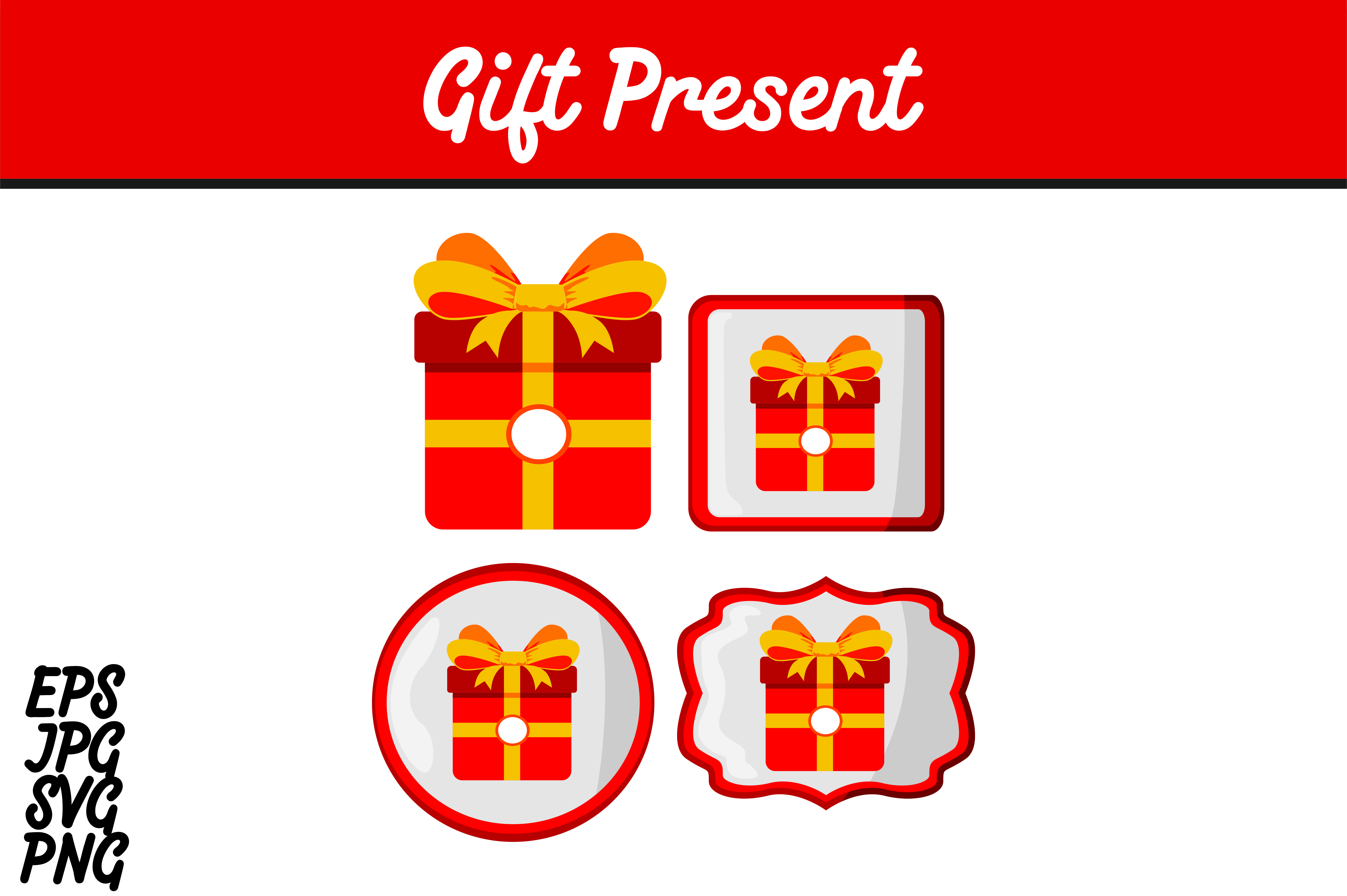Bundle Red Gift Present Set Svg Vector Image Graphic By Arief