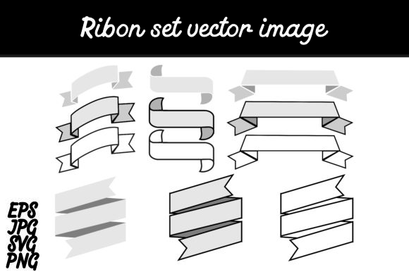 Print on Demand: Bundle Ribon Set Svg Vector Image Gráfico Iconos Por Arief Sapta Adjie