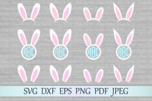 Download Free Bunny Ears Graphic By Magicartlab Creative Fabrica for Cricut Explore, Silhouette and other cutting machines.