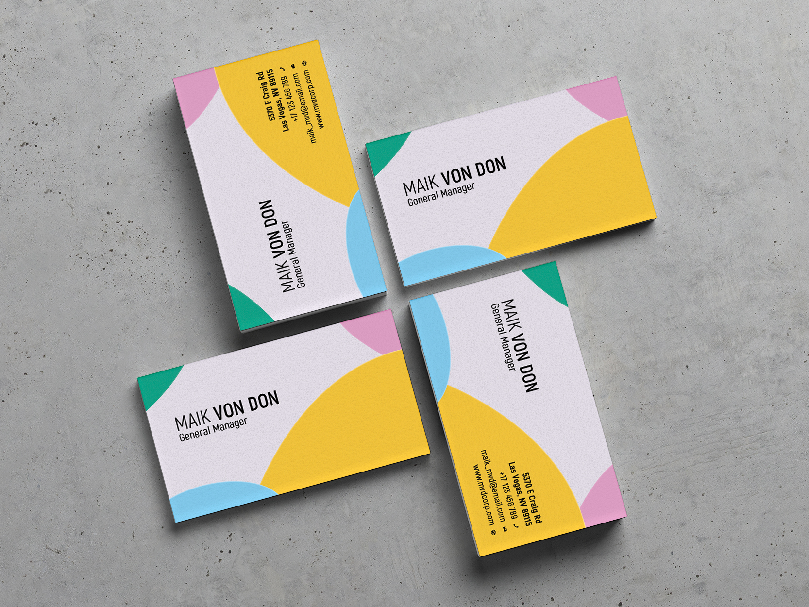 Download Free Business Card Graphic By Lampuan Design Creative Fabrica for Cricut Explore, Silhouette and other cutting machines.