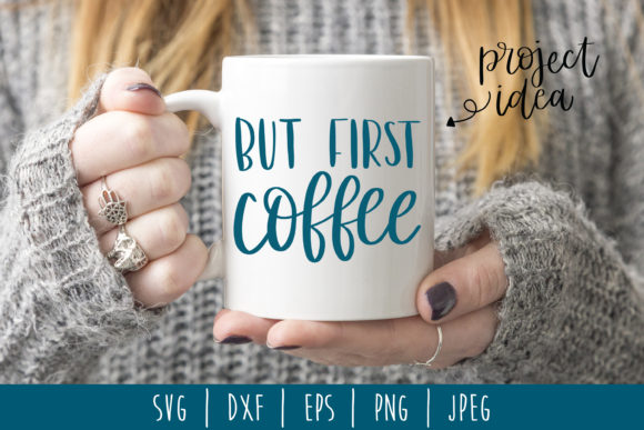 Download Free But First Coffee Hand Lettered Svg Graphic By Savoringsurprises for Cricut Explore, Silhouette and other cutting machines.