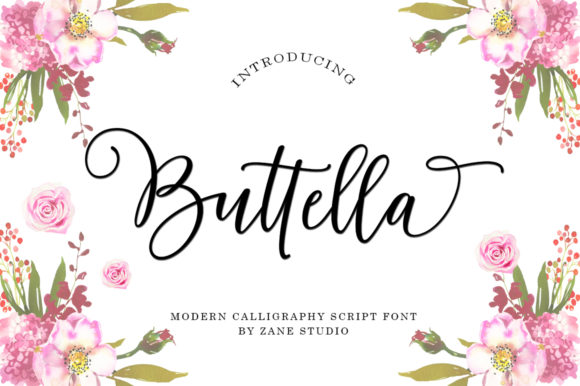 Print on Demand: Buttella Script Script & Handwritten Font By Zane Studio - Image 7