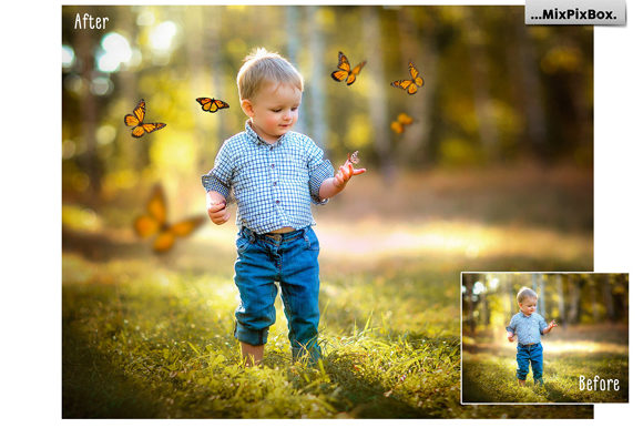 Print on Demand: Butterflies Photo Overlays Graphic Layer Styles By MixPixBox - Image 2